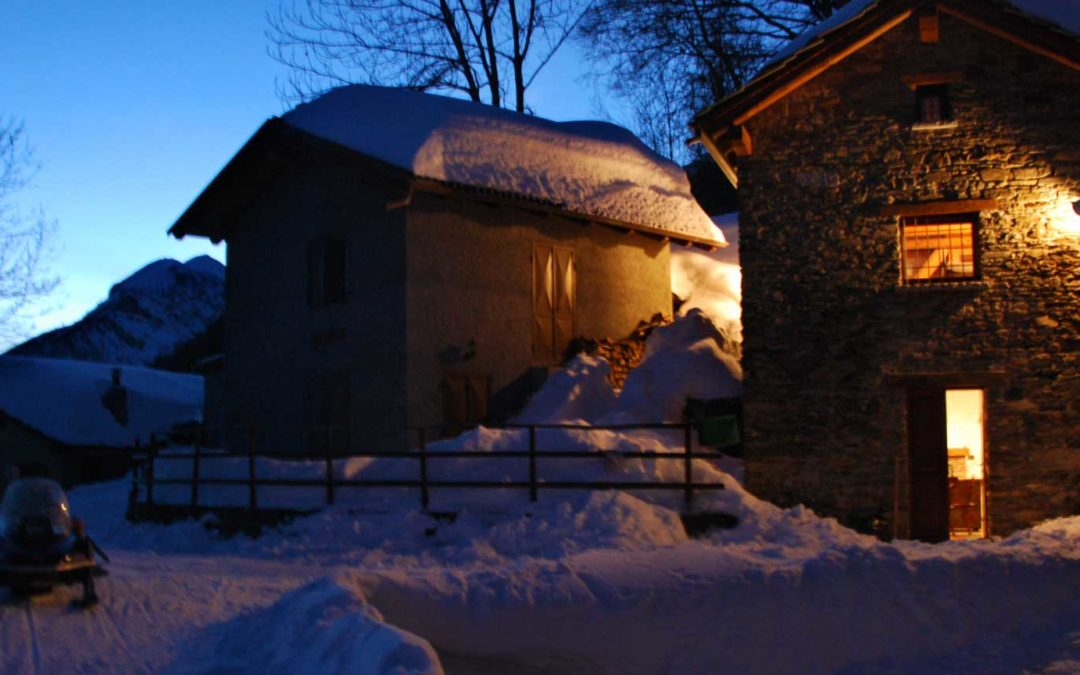 agriturismo val di susa neve, inverno - barbamarc